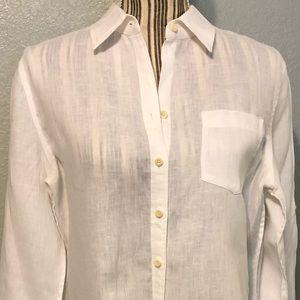Banana Republic white linen button shirt